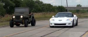 Jeep vs. corvette