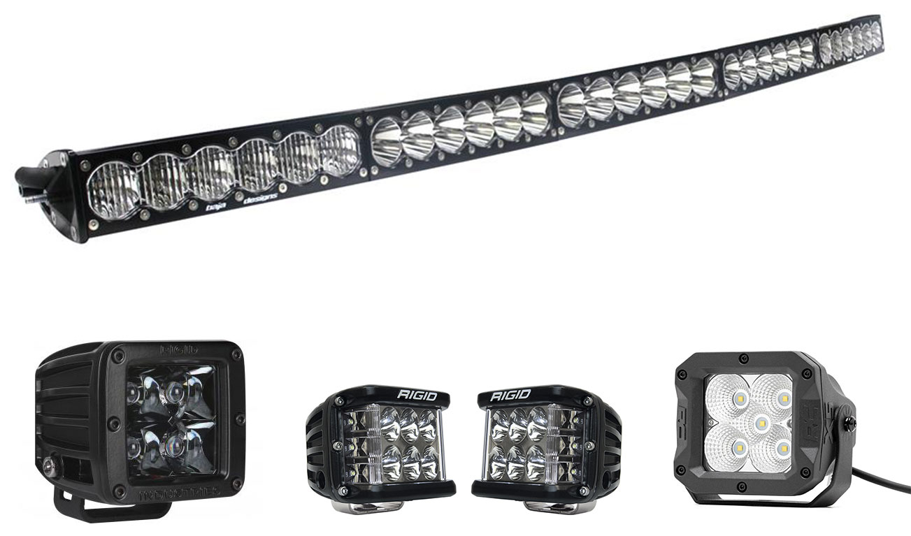 FITS ALL MAKES AND MODELS RIGID 4/'/' FLOOD M-SERIES LED LIGHT BARS...